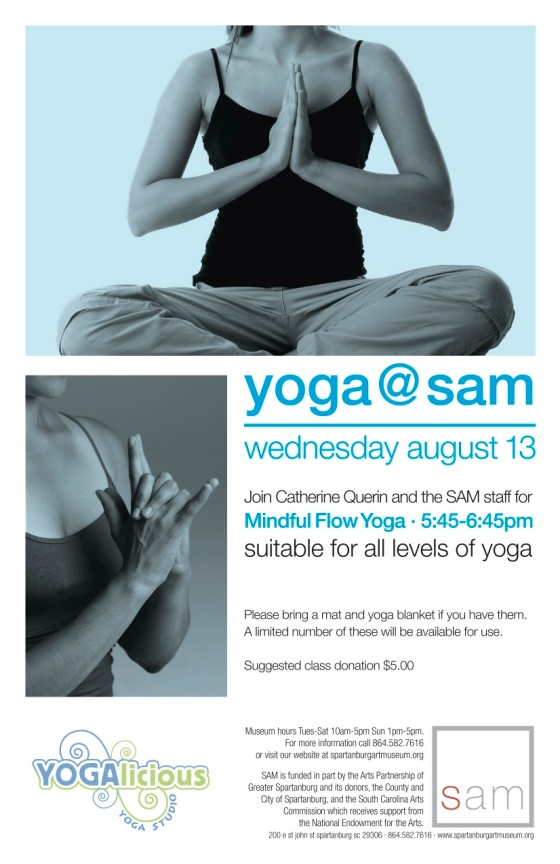 Yoga at the SAM 8.13.14