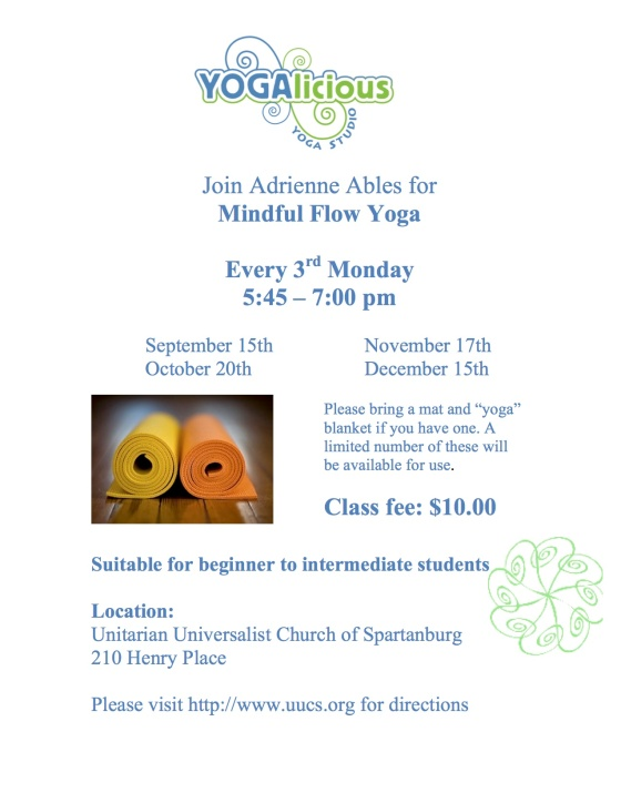 Mindful Flow UU Sep-Dec 2014