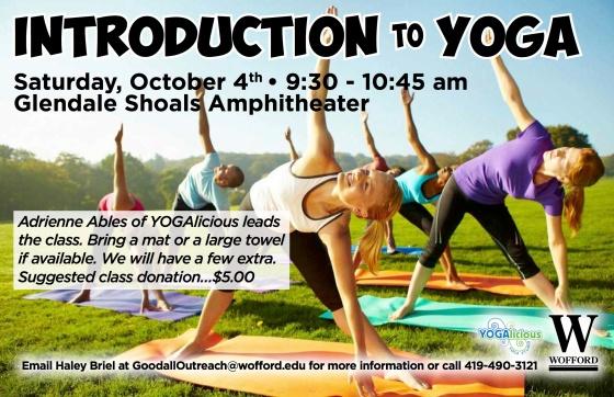 Yoga at Glendale Shoals